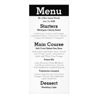 Couples modernes de silhouette - menu de réception