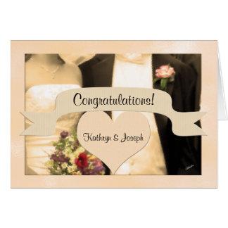 Couples personnalisés par félicitations de mariage carte de vœux