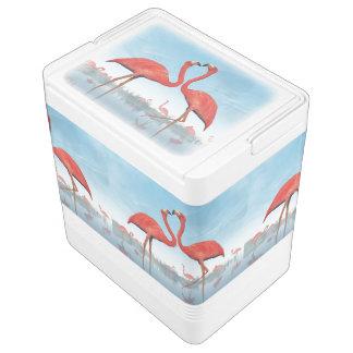 Cour de flamants - 3D rendent Glacière Pour Canettes