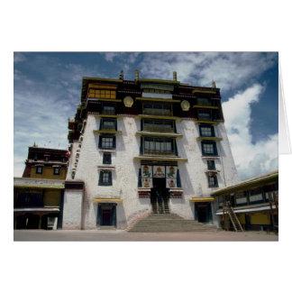Cour intérieure de Potala, Thibet, Chine Carte