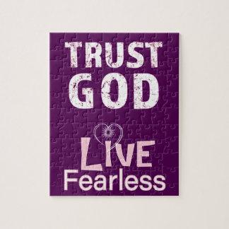 Courageux vivant de Dieu de confiance de puzzles