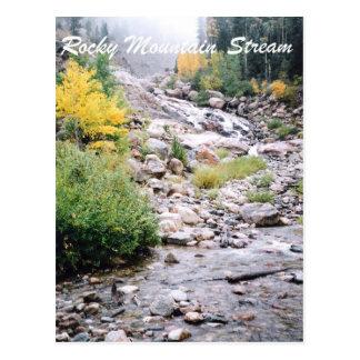 Courant de montagne rocheuse carte postale