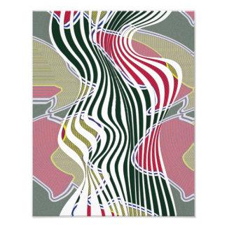 Courbes abstraites, art multicolore modelé de mur impression photo