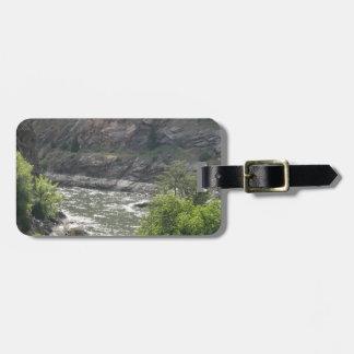 Courbure de rivière étiquette à bagage