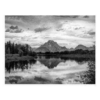 Courbure d'Oxbow en parc national grand de Teton Cartes Postales