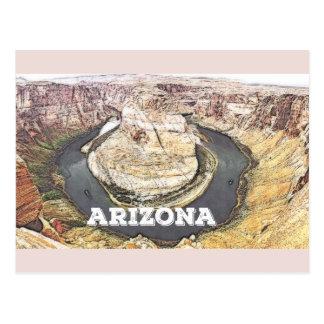 Courbure en fer à cheval - canyon grand - carte postale