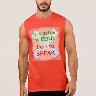 COURBURE OU COUPURE : Mots de sagesse T-shirt Sans Manches