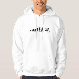 Coureur de ski d'évolution veste à capuche
