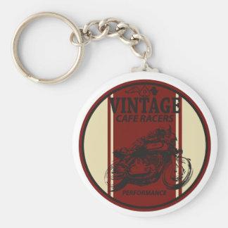 Coureurs vintages de café porte-clés