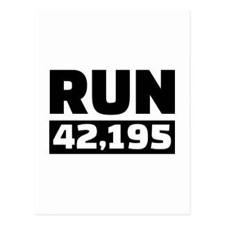 Courez 42 kilomètres de marathon carte postale