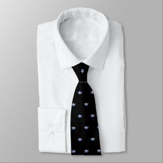 Couronne bleue de Mlle Amérique et cravate des