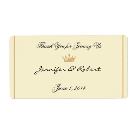 Couronne Regency dans l'étiquette en ivoire de Étiquettes D'expédition