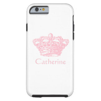 Couronne rose - personnalisez-la coque tough iPhone 6