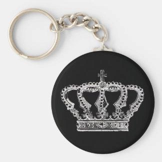 Couronne royale [foncée] porte-clé rond