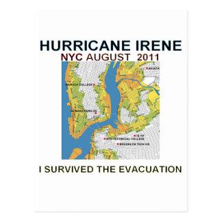 Courrier de carte d'évacuation d'Irène New York
