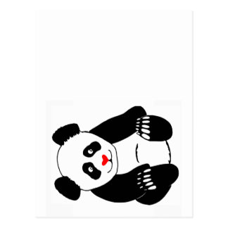 Courrier de panda carte postale