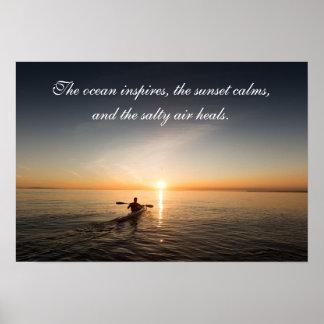 Courrier inspiré de citation de canoë de kayak de poster