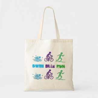 Course de Triathlete Ironman de triathlon de Tote Bag