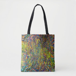 Courses colorées multi d'art abstrait sac