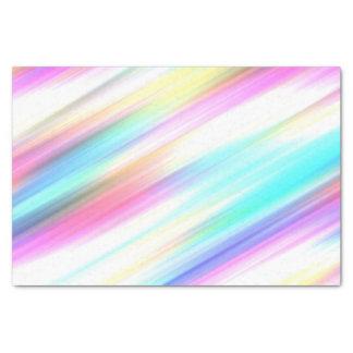 Courses de brosse d'arc-en-ciel papier mousseline