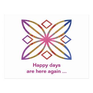 Courses positives - conceptions heureuses carte postale