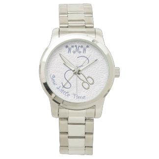 Cousez peu d'heure + Ciseaux + Fil (personnalisé) Montres Bracelet