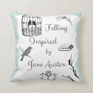 Coussin Abattage inspiré par Jane Austen