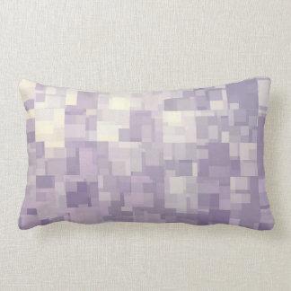 Coussin abstrait d'aquarelle de cubes en lavande