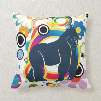 Coussin abstrait de gorille