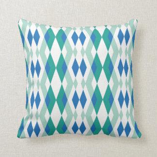 Coussin Acier vert-bleu en pastel de la géométrie moderne