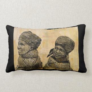 Coussin africain d'art de portrait