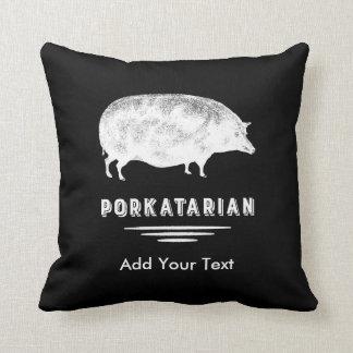 Coussin Amant antique Porkatarian de lard de porc drôle