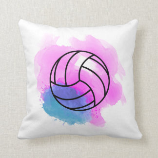 Coussin Aquarelle de volleyball