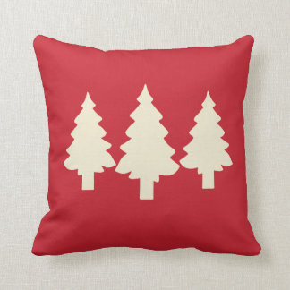 Coussin Arbres forestiers rouges