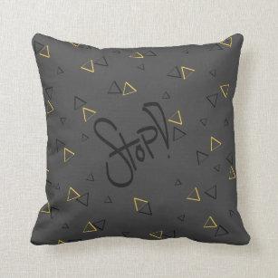 coussins jaune et gris personnalis s. Black Bedroom Furniture Sets. Home Design Ideas