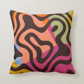 Coussin Art de bruit ivre d'abrégé sur tigre