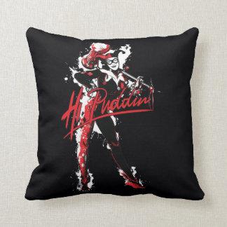 "Coussin Art d'encre de Puddin'"" de Batman | Harley Quinn"