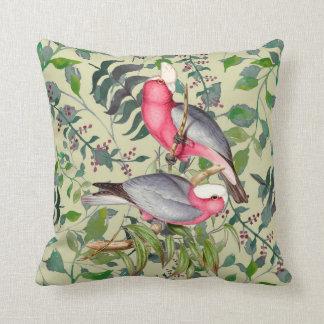 Coussin australien coloré de carré d'oiseaux