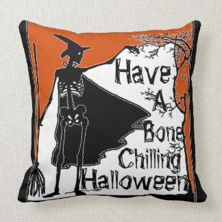 Coussin Ayez un os refroidir Halloween !