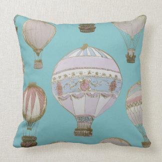 Coussin Ballon à air chaud lunatique - bleu royal