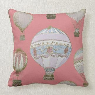 Coussin Ballon à air chaud lunatique - duchesse Pink