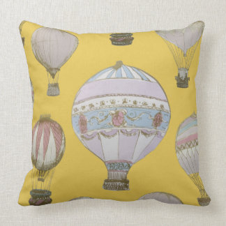 Coussin Ballon à air chaud lunatique - jaune d'empereur
