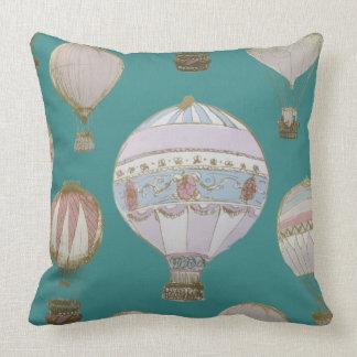 Coussin Ballon à air chaud lunatique - vert majestueux
