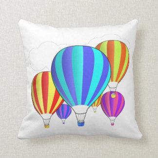 Coussin Ballons à air chauds colorés