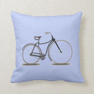 Coussin Bicyclette bleue de carreau de sérénité