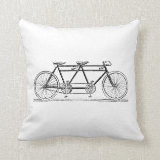 Coussin Bicyclette vintage construite pour deux/vélo