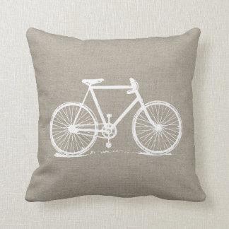 Coussin Bicyclette vintage rustique