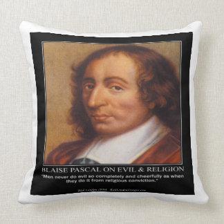 Coussin Blaise Pascal et carreau mauvais religieux de