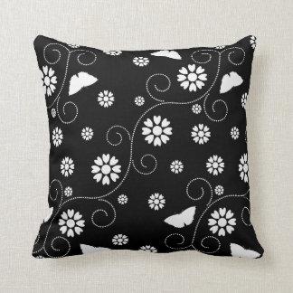 Coussin Blanc floral de BW N