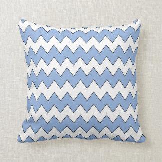Coussin bleu-clair de zigzag